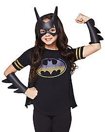 Kids Batgirl Cape T Shirt - DC Comics