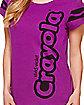 Vivid Violet Purple Crayon T Shirt - Crayola