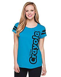 Cerulean Crayon T Shirt - Crayola
