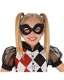 Kids Glitter Harley Quinn - DC Comics Mask