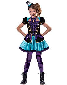 Kids Mad Hatter Dress Costume