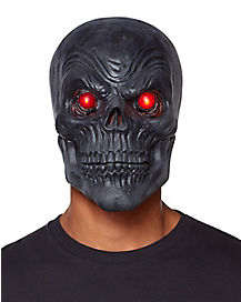 Light Up Black Skull Mask