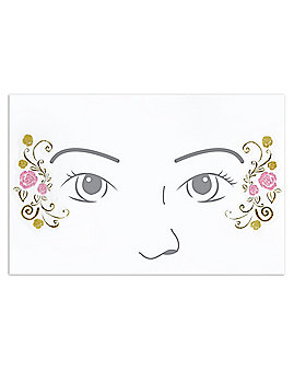 Kids Belle Face Decal - Beauty and the Beast