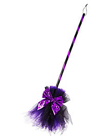 Deluxe Purple Witch Broom