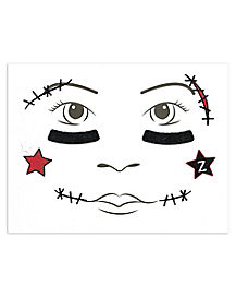Kids Cheerleader Face Decal