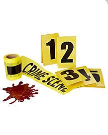 Blood Splat Crime Seen Decorations Kit