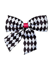 Mad Hatter Black and White Bowtie