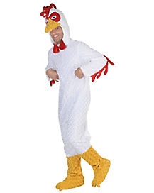 Adult Chicken One Piece Costume