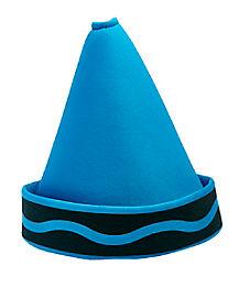 Cerulean Blue Crayon Hat - Crayola