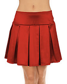 Adult Red Pleated Skirt