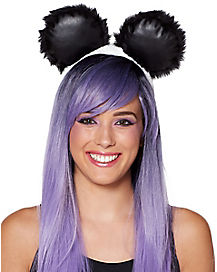 Faux Fur Panda Ears Headband