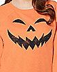 Cold Shoulder Pumpkin Sweatshirt