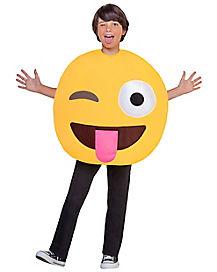 Kids Winking Tongue Emoji Costume