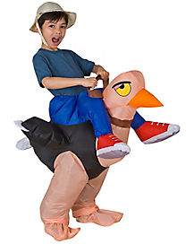 Kids Ollie Ostrich Inflatable Costume