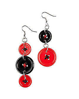 Button Doll Earrings