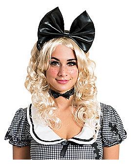 Black Doll Bow Headband