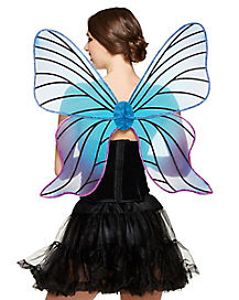 Blue and Purple Butterfly Fairy Wings