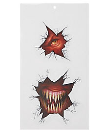Monster Wall Breaker Wall Cling - Decorations
