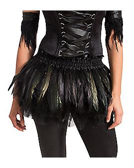 Black Feather Raven Tutu Belt