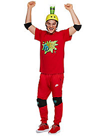 Adult Red Contestant Costume - Double Dare