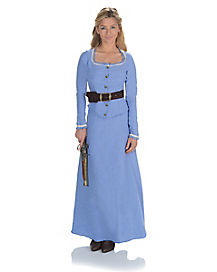 Adult Blue Western Dress