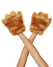 Brown Animal Faux Fur Paws