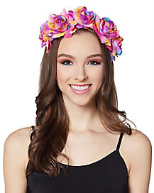 Rainbow Butterfly Flower Crown