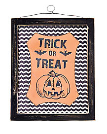 Pumpkin Trick or Treat Wall Hanging