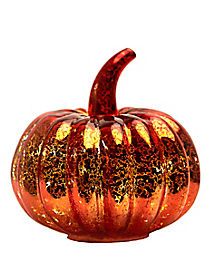 LED Small Glass Pumpkin