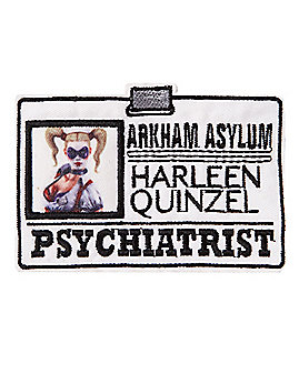 Harley Quinn Iron-On Pyschiatrist Patch - DC Comics