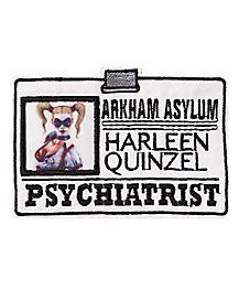 Harley Quinn Iron-On Pyschiatrist Patch - DC Comics