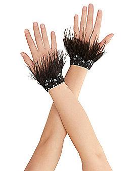 Black Feather Raven Gloves