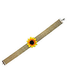 Sunflower Scarecrow Choker Necklace