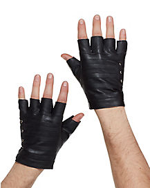 Fingerless Black Gloves