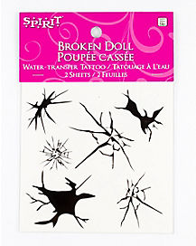 Broken Doll Temporary Tattoos