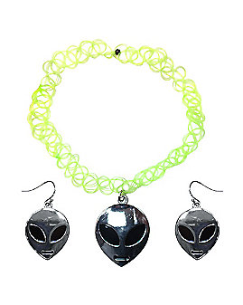 Alien Choker and Earring Set