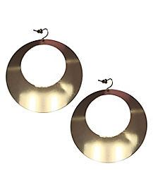 '70s Gold-tone Hoop Earrings