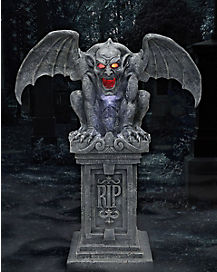 3 ft sinister gothic fogging gargoyle decorations