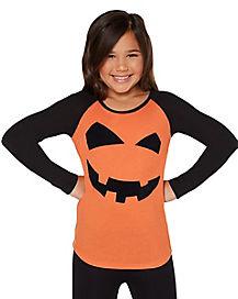 Kids Pumpkin Long Sleeve Shirt