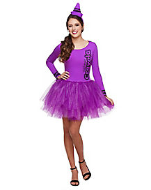 Adult Vivid Violet Tutu Crayon Dress - Crayola