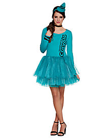 Adult Aquamarine Crayon Dress - Crayola
