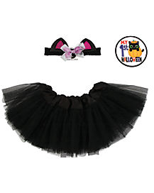 Baby Black Cat Tutu Set