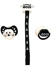 Halloween Little Boo Pacifier and Clip Set