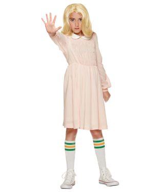 Stranger Things kids Eleven dress costume