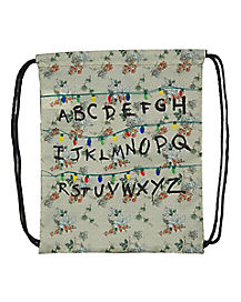 Alphabet Wall Cinch Bag - Stranger Things
