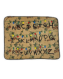 Alphabet Fleece Blanket - Stranger Things