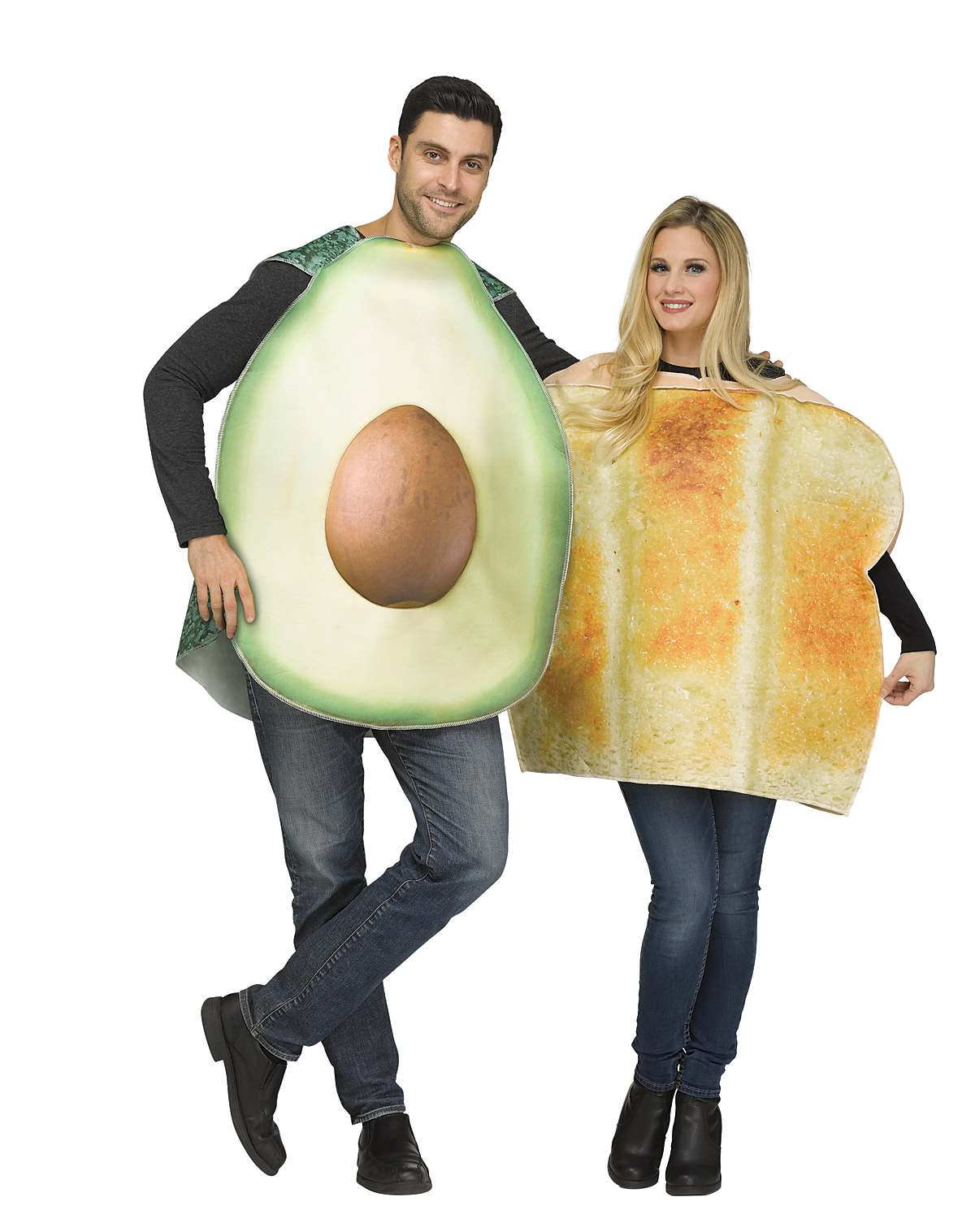 Avocado and toast couples costume