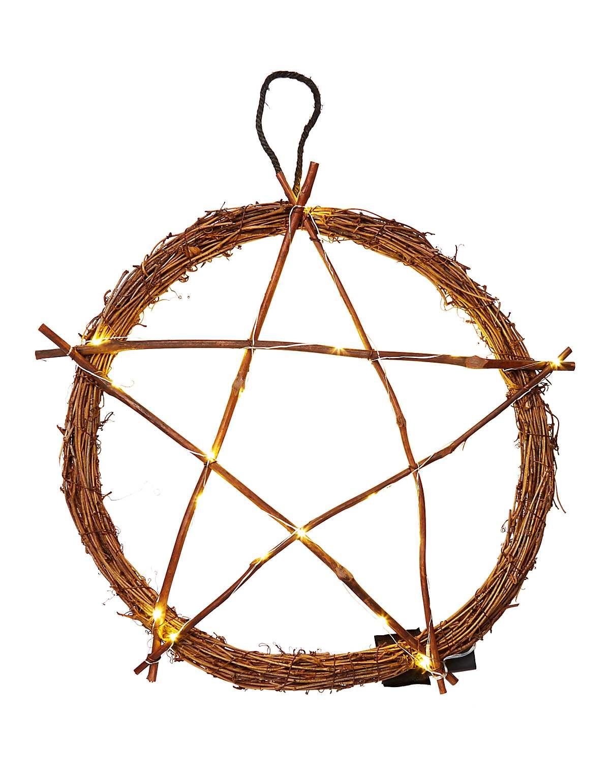 Light-up pentagram wreath