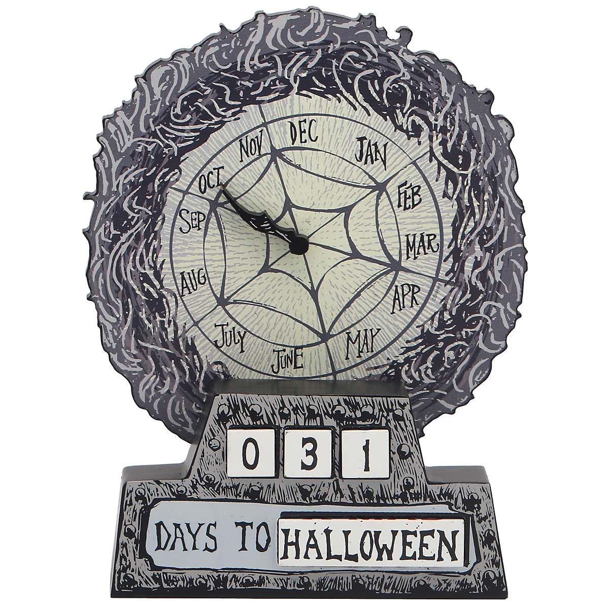 The Nightmare Before Christmas Wood Block X-Mas and Halloween Countdown