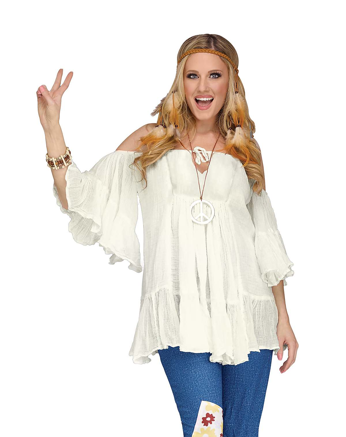 Hippie peasant shirt